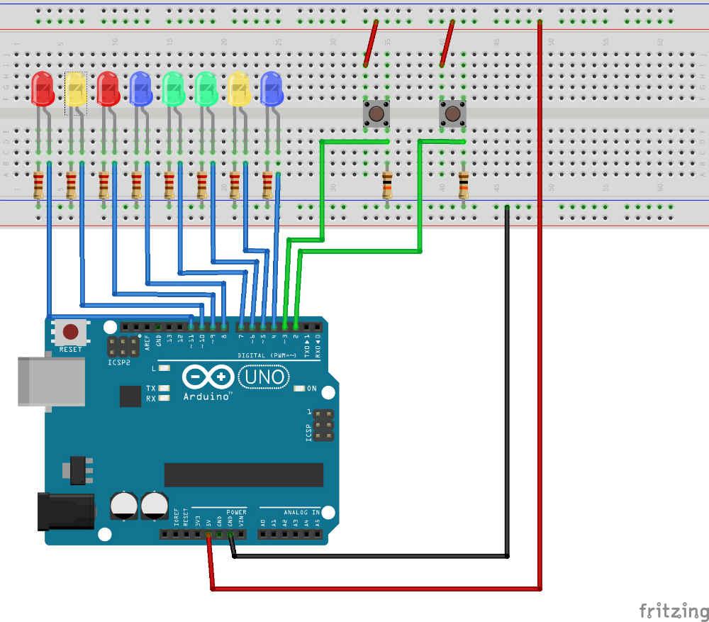 Рисунок 1 с урока 2 Схема соединений в проекте Ардуино