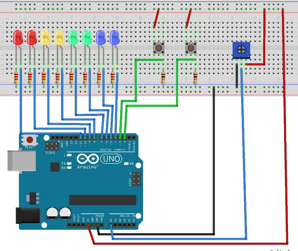 проект на ардуино Индикатор времени нажатия кнопки