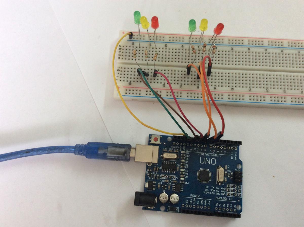 схема 2 подключение светодиодов на Arduino рисунок 02