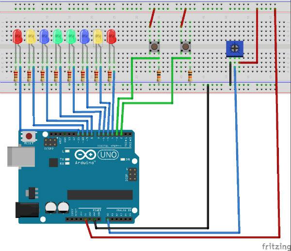 игры пишем Пинг-понг на Arduino.